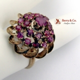 Estate Harem Princess Ring 10 K Gold Rubies