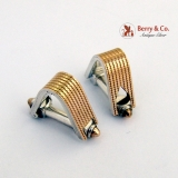 Art Deco Cufflinks Sterling Silver 18K Gold