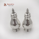 .Royal Danish Salt Pepper Shakers Set International Sterling Silver 1939