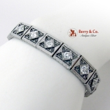 Edwardian Openwork Design Diamond Bracelet Platinum