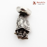 .Stylized Mexican Figure Brooch Pin Sterling Silver