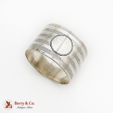 .English Round Milled Napkin Ring Sterling Silver 1908 Chester No Mono