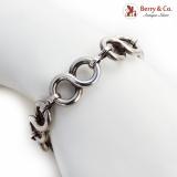 .Bold Figure 8 Link Bracelet Sterling Silver 1950 Mexico