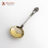 .Ornate Figural Spoon Gilt Bowl Norwegian 830 Standard Silver 1900 Mono