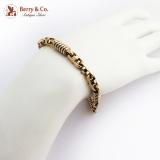 Modernist Chunky Masculine Bracelet 14K Gold