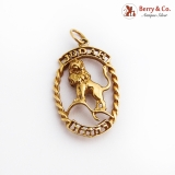Lion Of Judah Pendant 14K Yellow Gold Openwork Designs