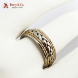 Braided Design Ring Band 14K Multi Color Gold