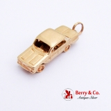 Movable 1961 Chevy Chevrolet Model Charm Pendant 14K Gold