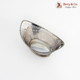 .Dutch Cut Work Heart Beaded Basket 1922 833 Standard Silver