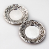 .Gianmaria Buccellati Pair of Coasters Sterling Silver