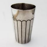 .Mexican Modernist Beaker Sterling Silver 1960 Feisa