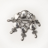 .Norwegian Solje Wedding Brooch 830 Silver
