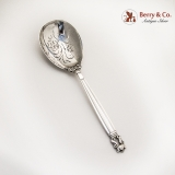 .Acorn Berry Spoon Pierced Sterling Silver Georg Jensen