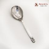 .Acorn Berry Spoon Pierced Sterling Silver Georg Jensen
