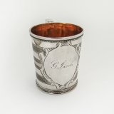 .Christening Cup Coin Silver San Francisco CA Frederick R Rickel 1860