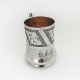 .Aesthetic Cup Coin Silver Vanderslice San Francisco CA 1860