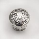 .Art Nouveau Dresser Jar Sterling Silver Birmingham 1902