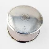 .Chinese Export Silver Round Box Siu Kee Hong Kong 1900