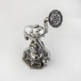 .Indian Elephant Rose Water Sprinkler Sterling Silver 1900