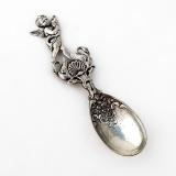 .Figural Cherub Sugar Spoon Peruzzi 800 Silver Italy