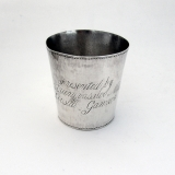 .Indian Colonial Presentation Beaker Cup Sterling Silver 1880
