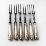 .Irish 18th Century Game Forks Set Sterling Silver