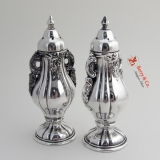 .Baroque Salt And Pepper Shakers Wallace Silverplate 1941