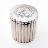 .Italian Fluted Box Gilt Interior Miracoli 800 Standard Silver