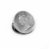 .Portuguese 1000 Reis Silver Coin Paper Clip