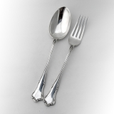 .Cesa 2 Piece Salad Serving Set Italian 800 Standard Silver