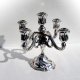 .German 5 Light Candelabrum Gebruder Deyhle 830 Standard Silver