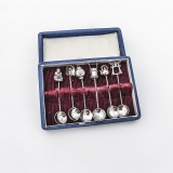 .Japanese Figural Salt Spoons Set 950 Sterling Silver Boxed
