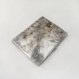 .Tiffany Cigarette Case Textured Finish Sterling Silver Italy 1940s Mono