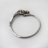 .Arthus Bertrand Equestrian Bangle Bracelet 18 K Gold Sterling Silver
