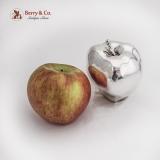 .Life Size Decorative Apple Figurine Italian 970 Sterling Silver 1960