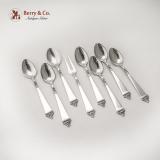.Norwegian Demitasse Spoons Serving Fork Set Nils Hansen 830 Silver