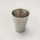 .Japanese Toyokoki Hammered Shot Cup 990 Sterling Silver