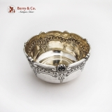 .Portuguese Chased Engraved Bowl Shell Scroll Border 833 Standard Silver