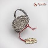 .Cazenovia Abroad Wire Mesh Oval Basket Miniature Topazio Sterling Silver