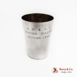 .Japanese Shot Cup 950 Sterling Silver 1920 Mono