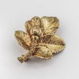 .Flora Danica Eggert Rose Bud Brooch Gilt Sterling Silver Denmark
