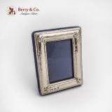 .Small Hammered Picture Frame Rectangle Form Sterling Silver Italy