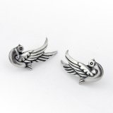 .Los Castillo Bird Earrings Screw Backs Sterling Silver Mexico