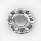 .Sanborns Engraved Baby Plate Lobed Border Sterling Silver Mexico