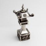 .Japanese Lantern Form Salt Shaker Sterling Silver
