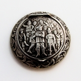 .Dutch Musketeers Round Pill Box Leeuw Bouter 833 Standard Silver 1966