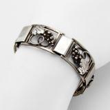 .Danish Grapevine Link Bracelet Fir Munksgaard Sterling Silver