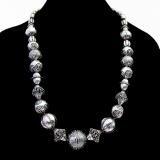 .Kalevala Koru Ornate Bead Halikko Necklace Sterling Silver 1973 Finland
