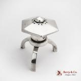 .Japanese Lantern Tripod Salt Shaker Asahi Shoten 950 Sterling Silver