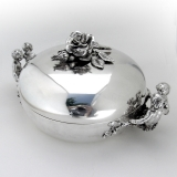 .Louis Philippe I Figural Covered Serving Dish Veyrat 950 Sterling Silver